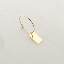 Tag earring // Goldfilled
