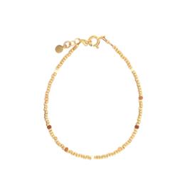Ivy bracelet // Beige Gold
