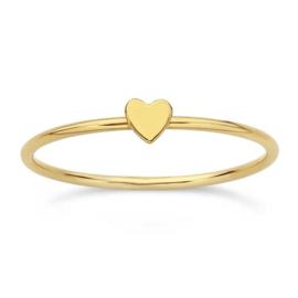 Tiny heart ring // Goldfilled