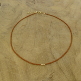 Minimalist necklace // Camel Gold