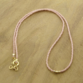Minimalist necklace // Soft Pink Gold