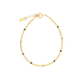 Ivy bracelet // Green Gold