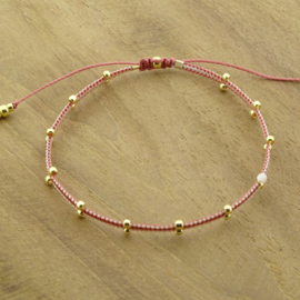 2 Dots  Rosy // White ~ Gold or Silver