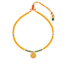 Bella bracelet // Orange green Gold
