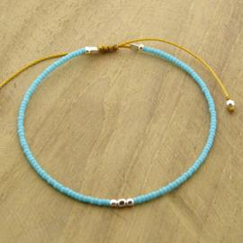 Minimalist // Turquoise blue Silver