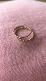 Champagne stone ring // Goldfilled