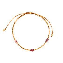Posy bracelet // Purple Gold
