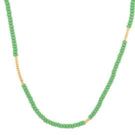 Basic  Necklace // Green Gold