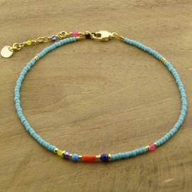 Enkelbandje // Summer Turquoise gold