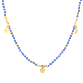 Moonsister Necklace // Blue Gold