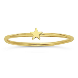 Tiny star ring // Goldfilled