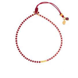 Stripes bracelet // Garnet Soft Pink Gold