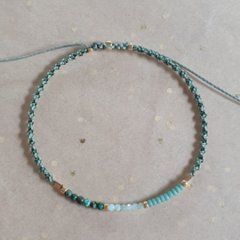 Turquoise Spiral // Gold