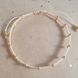 2 Dots Light Peach // Gold
