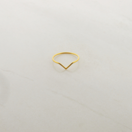 Chevron ring // Gold Plated