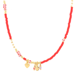 Kaia Necklace // Red
