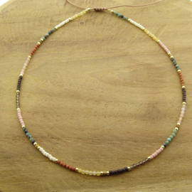 Fall mix necklace // Gold