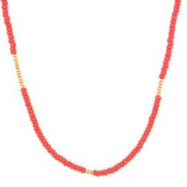 Basic  Necklace // Coral Gold