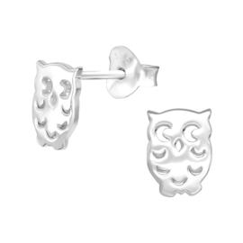 Zilveren uiltjes oorstekertjes