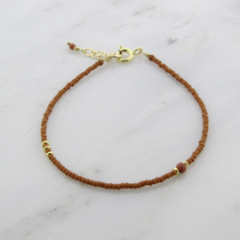 Simplicity bracelet // Brown Goldstone