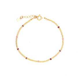 Ivy bracelet // Garnet Gold