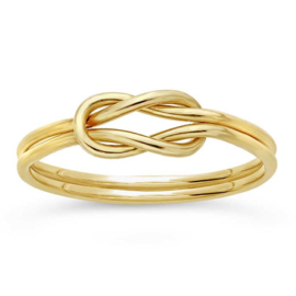 Double knot ring // Goldfilled