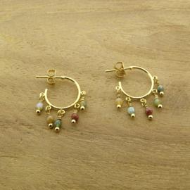 Dangling hoop earrings // Nature