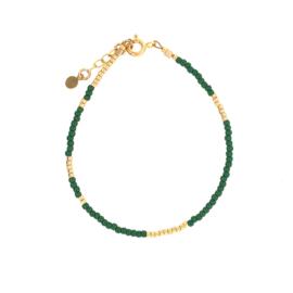 Ava bracelet // Green Gold