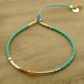 Candy bracelet // Turquoise Green Gold