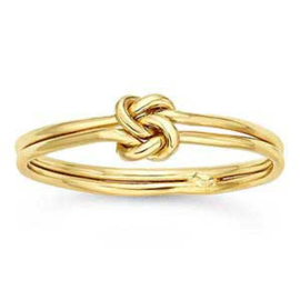 Double love knot ring // Goldfilled