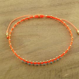 Enkelbandje // Neon Orange Turquoise
