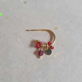 Tiny hoops // Garnet