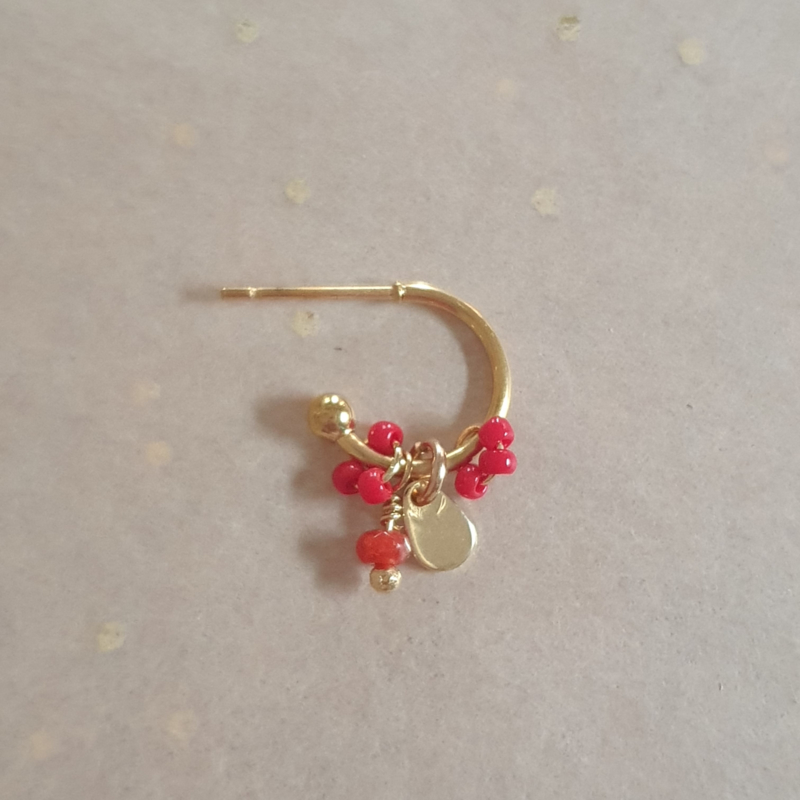 Tiny hoops // Red