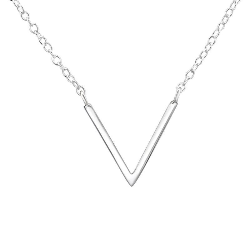 """""""V"""" necklace //  925 silver"""