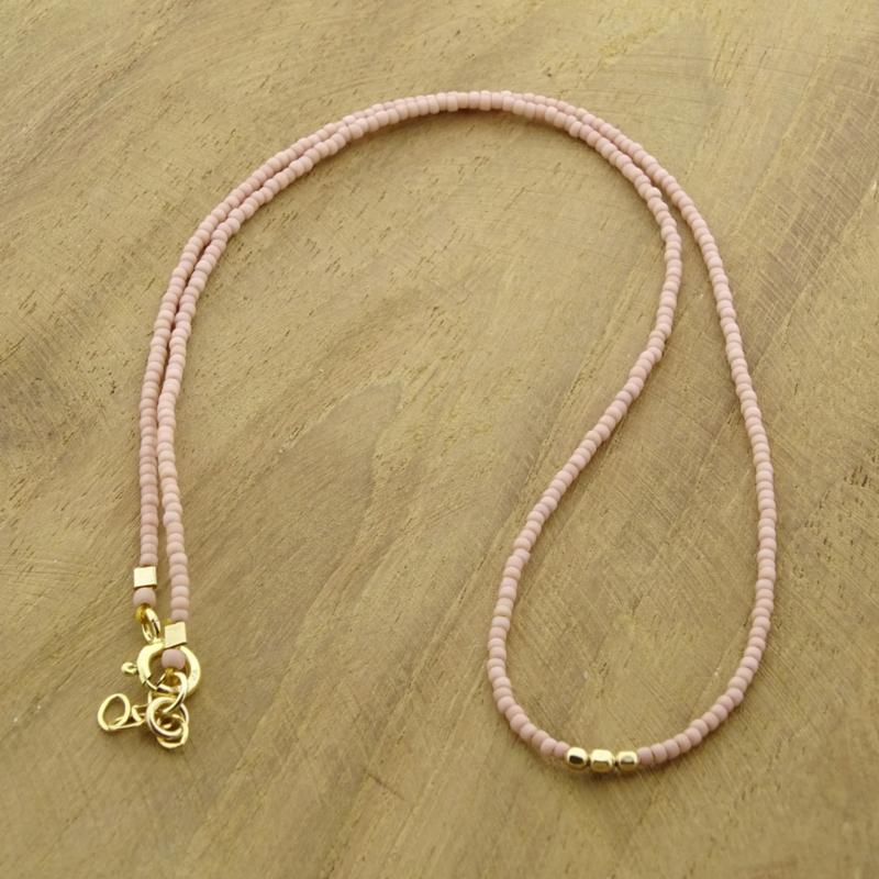 Minimalist necklace // Soft Pink Gold