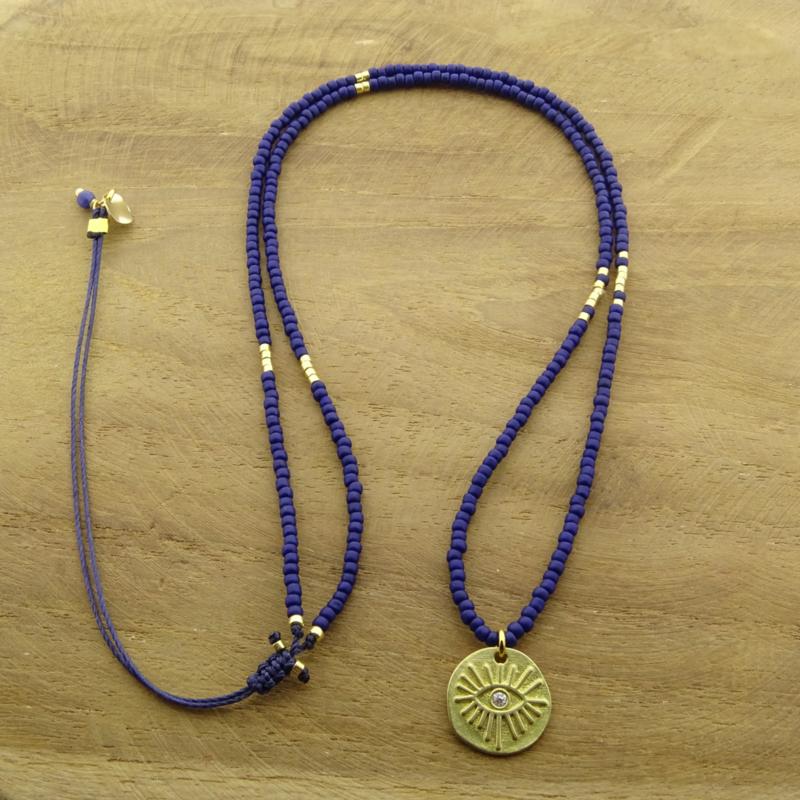 Long Necklace  // Royal blue