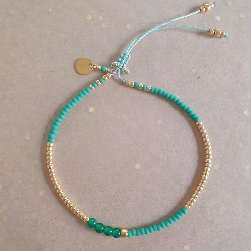 Basic Turquoise green // Gold