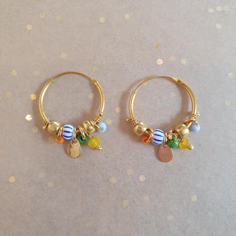 Candy hoop earrings // Citrus