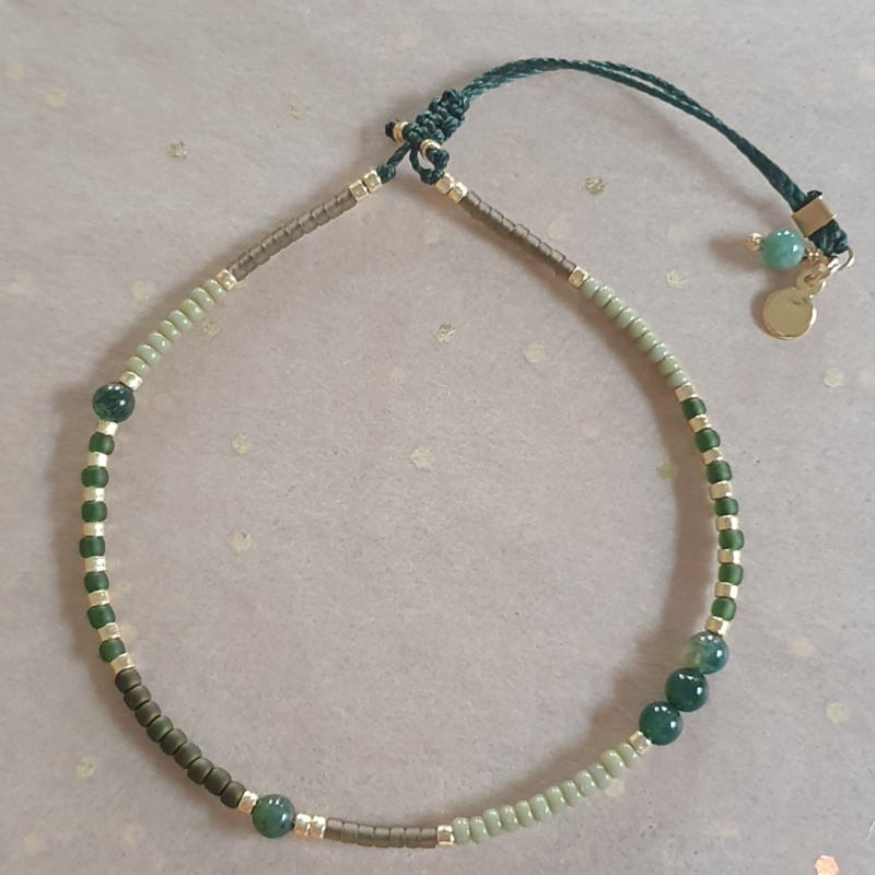 Indian Agate // Green Gold