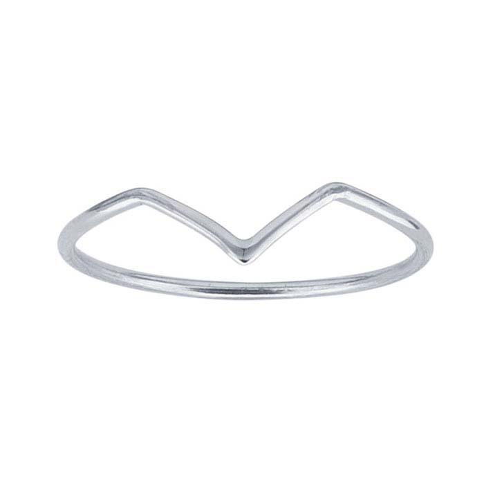 Chevron ring // Silver
