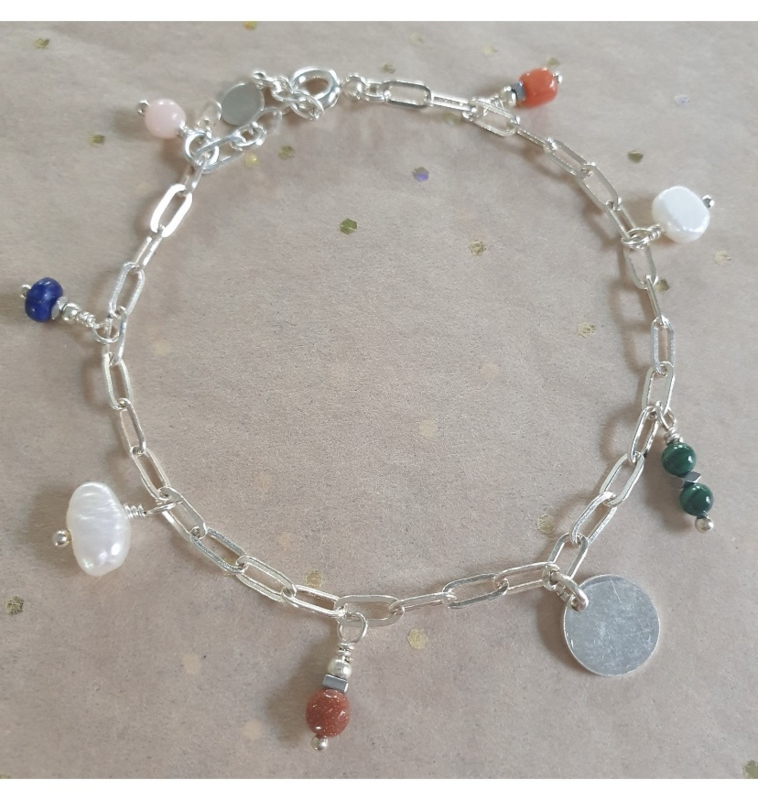 Coco charm bracelet // Echt zilver
