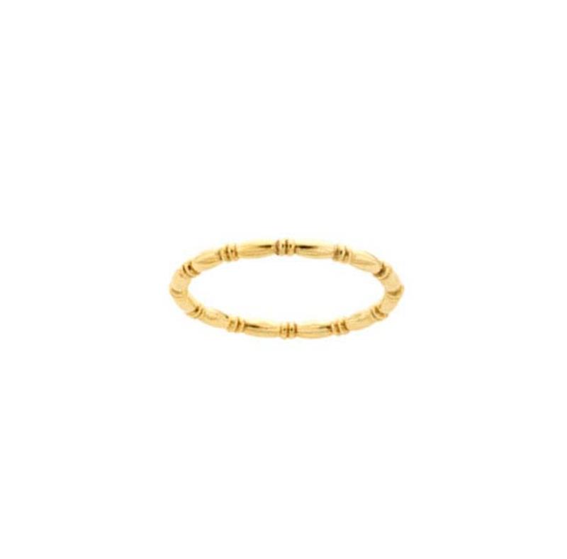 Patterned ring // Goldfilled
