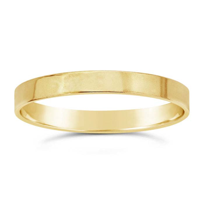 Flat wire ring // Goldfilled