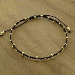 Triple Dots  Black // Gold