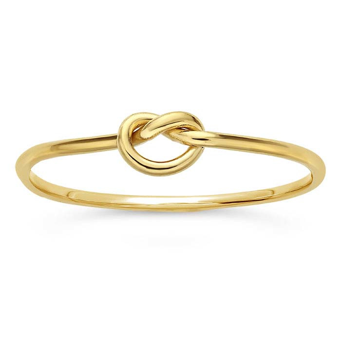Knot ring // Goldfilled