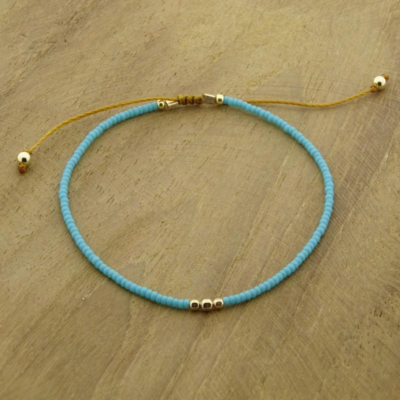 Minimalist // Turquoise blue Gold