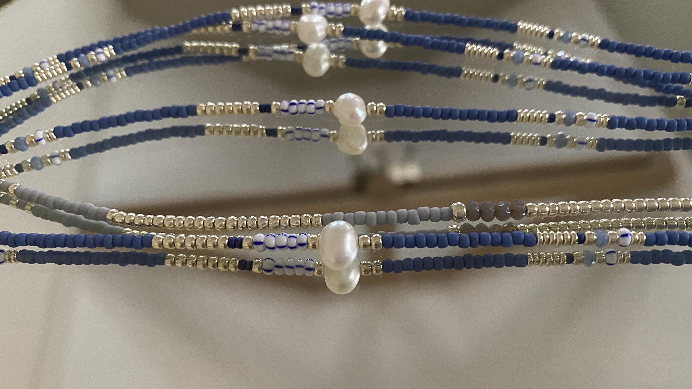 Belle Pearl Blue Silver