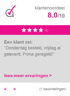 WebwinkelKeur beoordeling