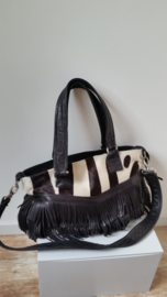 shopper met zebra look