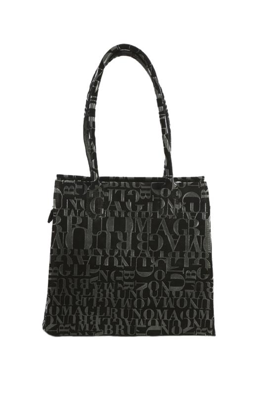 zwarte handtas met special print